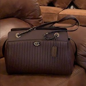 Like new Coach quilted Parker carryall oxblood